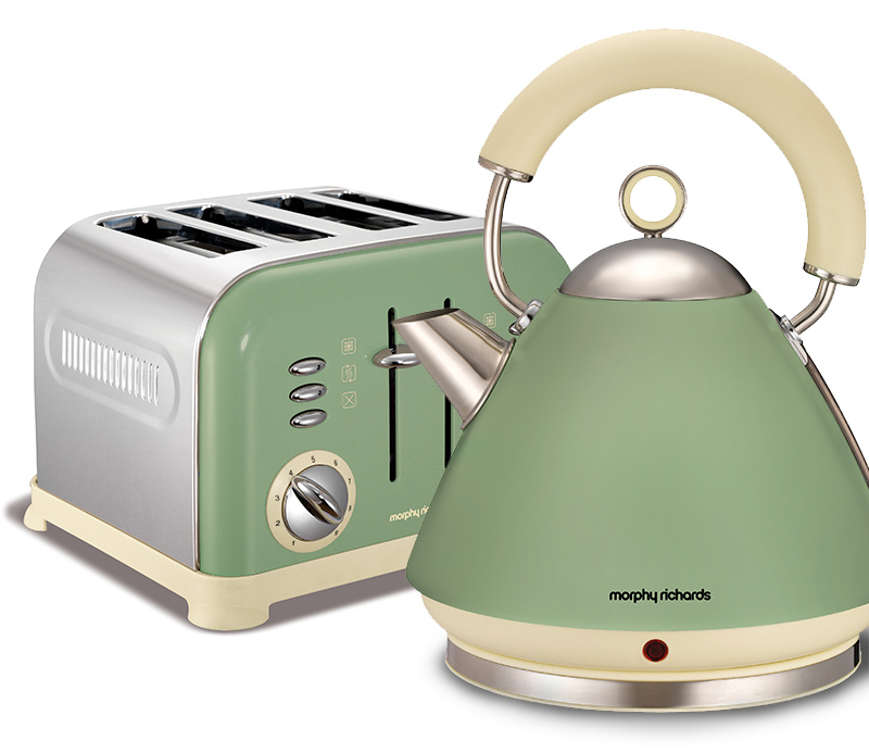 Morphy richards accents kettle and toaster set sage for Funky kitchen accessories uk
